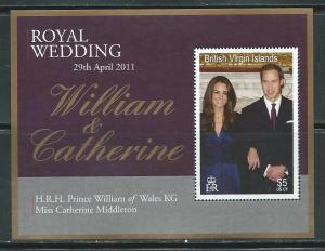 Virgin Islands 1146 2011 Prince William Wedding s.s. MNH