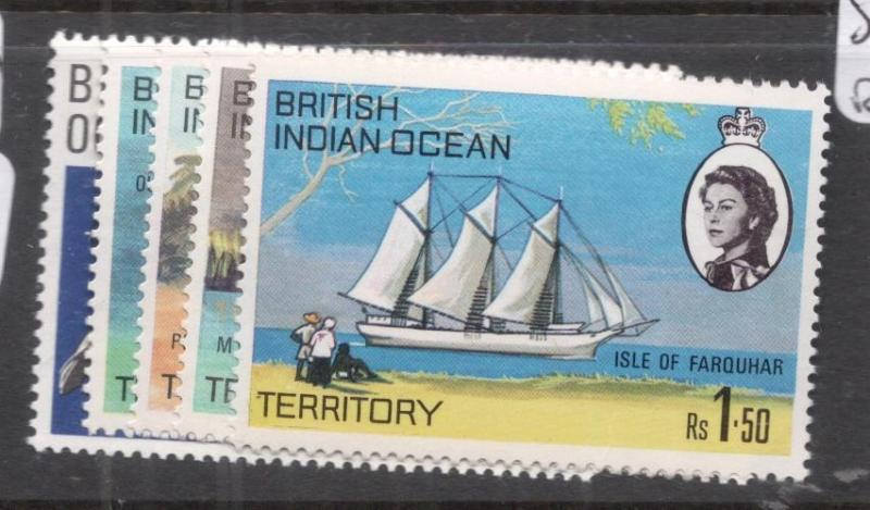 British Indian Ocean Territory SG 31-5 MNH (8dhy)