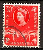 Kenya Uganda & Tanganyika; 1960: Sc. # 125: O/Used Single Stamp