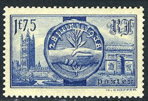 France 352, MNH. Visit of King George VI & Queen Elizabeth of Great Britain,1938