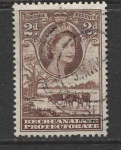 Bechuanaland - Scott 156 - QEII - Definitive -1955 - Used - Single 2p Stamp