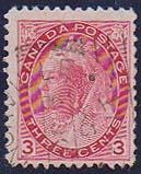 Canada #78 3c QV Numeral Shannonville/Ont./OC 3/98 Squared Circle Fine
