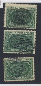 3x Canada Used Special Delivery 3xE1-10c 1x F/VF 2x Fine Guide Value = $30.00