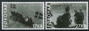 Faroes Faroe Islands Royalty Stamps 2021 MNH Royal Visit King Christian X 2v Set