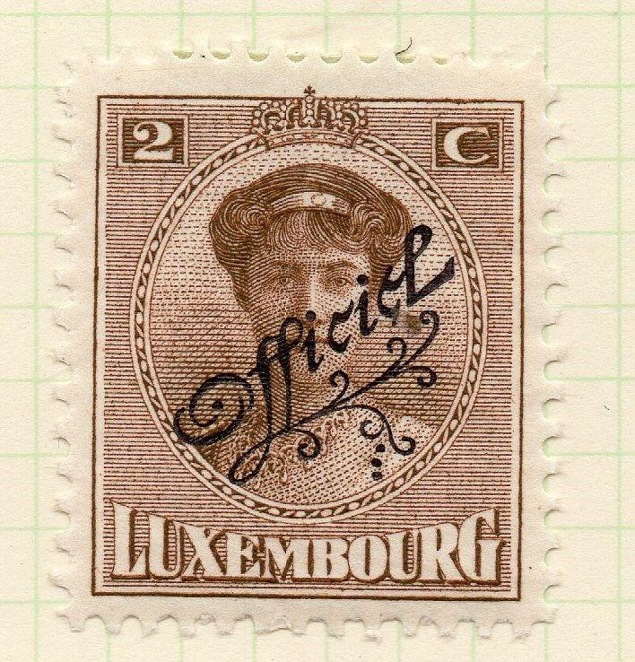 Luxembourg 1921-22 Early Issue Fine Mint Hinged 2c. Official Optd 253192