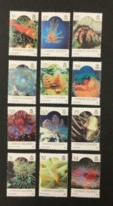 "CAYMAN ISLANDS #562-573, 1986 set of 12 ""Marine Life"", VF, MNH. CV $35.20. (BJS)"
