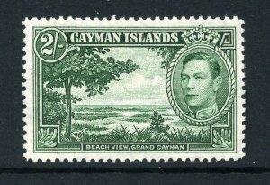 Cayman Islands 1938 KGVI 2/- deep green SG 124a mint