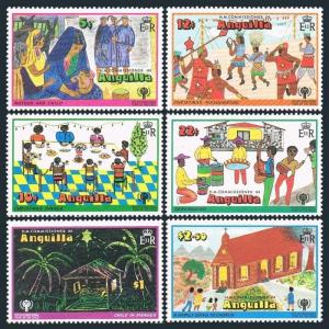 Anguilla 331-336,336a,MNH.Michel 329-334,Bl.23. Christmas 1978.IYC 1979.
