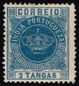 Portuguese India #166 Portuguese Crown; Unused (0.80)