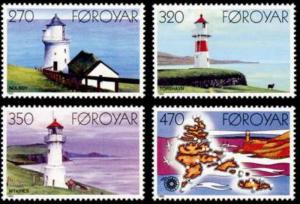 STAMP STATION PERTH Faroe Islands #130-133 Fa123-126 MNH CV$4.95