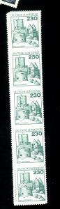 Germany #1231-42 (5 Strips) MINT F-VF OG NH Cat $68