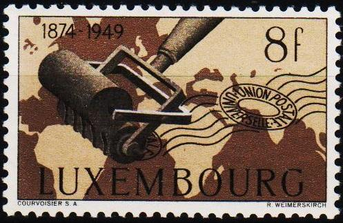 Luxembourg.1949 8f S.G.528 Unmounted Mint