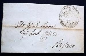 Italy Italia 1849 Entire Letter to Bassiano GUARDIA CIVICA DI SEZZE Cover