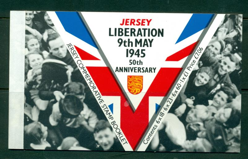 Jersey - 716b. 1995 50th Liberation of Jersey. Cplt. Booklet. $22.00.