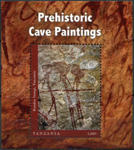 Tanzania 2017. Prehistoric Cave (MNH OG) Souvenir Sheet