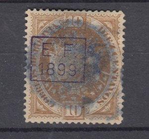 J28566 1899 bolivia used #58 ovpt