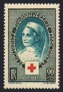 France B81,MNH.Michel 440. International Red Cross,75th Ann.Nurse.