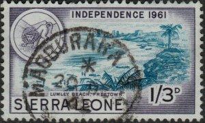 SIERRA LEONE - 1962 -  MAGBURAKA  CDS on SG231 1/3d turquoise & violet