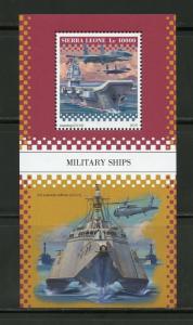 SIERRA  LEONE 2018 MILITARY SHIPS  SOUVENIR SHEET MINT NH