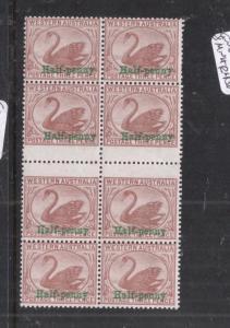 Western Australia SG 110a Gutter Block of Eight MNH (11dkb)
