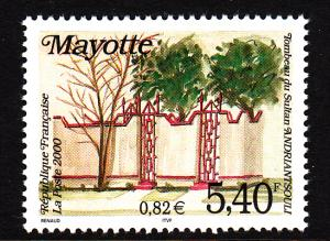 Mayotte MNH Scott #139 5.40fr Tomb of Sultan Andriantsouli