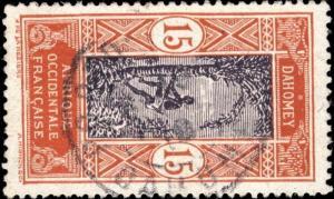 DAHOMEY 1916 CAD PORTO-NOVO SUR N°48 15c BRUN-ORANGE & BRUN-VIOLET PAPIER COUCHÉ