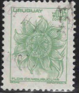 Uruguay Scott 949 Used  flower stamp