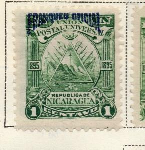 Nicaragua 1895 Early Issue Fine Mint Hinged 1c. Official Optd 323737