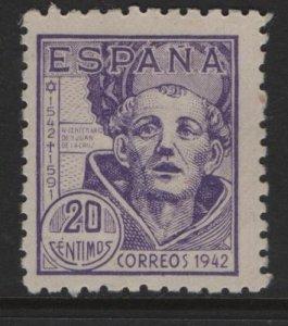 SPAIN 721,HINGED, 1942 St. John of the cross