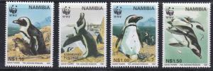 Namibia # 821-824, WWF - Penguins, NH, 1/2 Cat