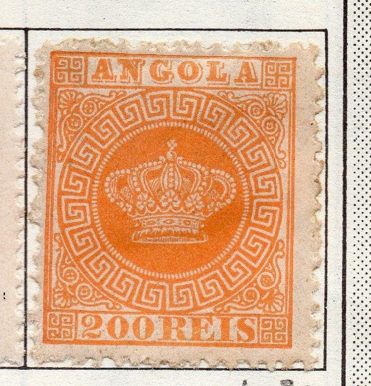 Angola 1870c Crown Type Issue Fine Mint Hinged 200r. 141268