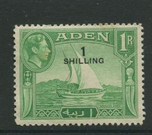 STAMP STATION PERTH Aden #43 - KGVI Definitive Overprint 1951 MLH CV$2.75.