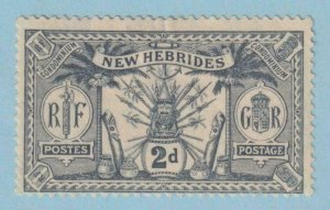 BRITISH NEW HEBRIDES 34  MINT HINGED OG * NO FAULTS VERY FINE !