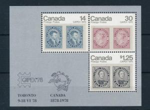 [18451] Canada 1978 Capex Souvenir Sheet Stamps on Stamps MNH