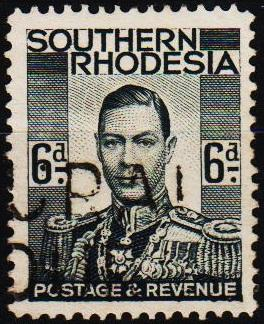 Southern Rhodesia. 1937 6d S.G.44 Fine Used