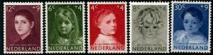 HERRICKSTAMP NETHERLANDS Sc.# B316-20 Girls Portraits