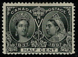 CANADA QV 1897 JUBILEE ISSUE 1/2c BLACK MINT UNUSED(MH) SG121 Wmk.none P.12 VGC