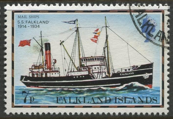 Falkland Is.- Scott 266 - Ships Issue - 1978 - VFU - Single 7p Stamp
