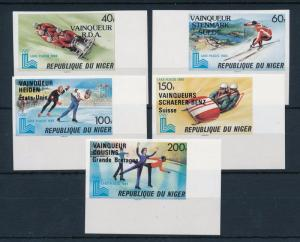 [55612] Niger 1980 Olympic games Figure skating Bobsleigh Overprint Imperf. MNH