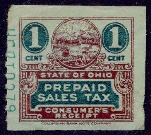 Ohio State Revenue Stamp 1c Sales Tax # C49a