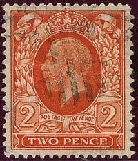 Great Britain - 1935 2p Orange KGV Wmk Sideways used #213b