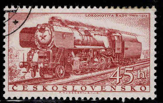 Czechoslovakia Scott 773 used locomotive stamp