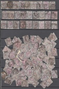 COLLECTION LOT # 2504 GREAT BRITAIN  132 TYOE A40 STAMPS 1881 CV+$264 STUDY