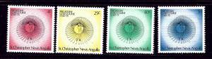 St Kitts-Nevis 308-11 MNH 1975 Golf
