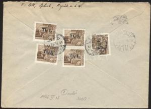 Hungarian stamp  5 x Mi 856 on domestic cover 1946 Mi WS106300