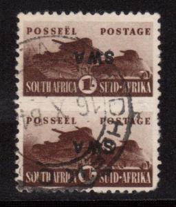 South West Africa #152c VF Used Vertical Pair