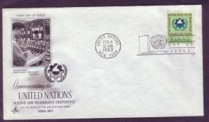 United Nations FDC Sc. #  114 Science    L10
