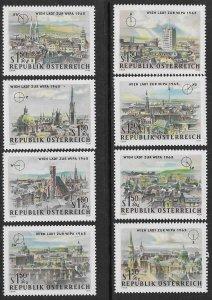 AUSTRIA 1964 WIPA 1965 Stamp Exhibition Semi Postal Set Sc B306-B313 MNH