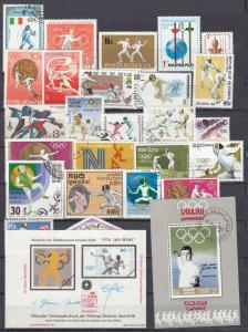 Fencing - small stamp lot  (758N)