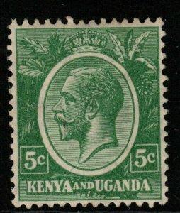 KENYA, UGANDA & TANGANYIKA SG78 1927 5c GREEN MTD MINT